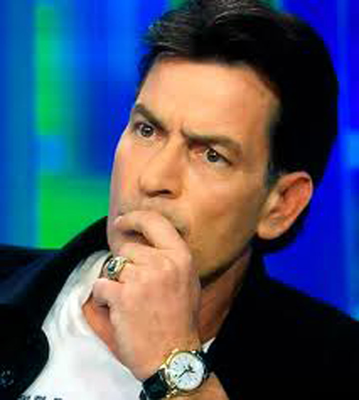 2. Charlie Sheen and his Patek Philippe Ref.2497, according to his Twitter account the only watch that tells Warlock time...?