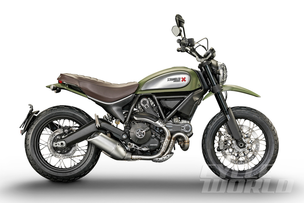 The Scrambler Urban Enduro pictured here is likely to be the most popular model in the range