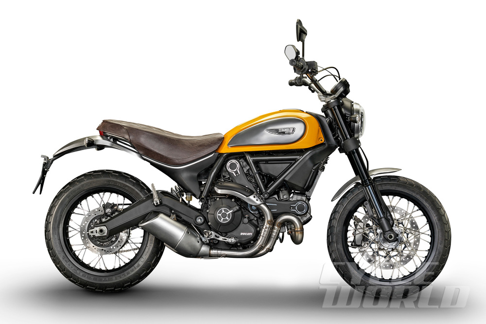 Ducati Scrambler Classic is the only version with traditional rear guard