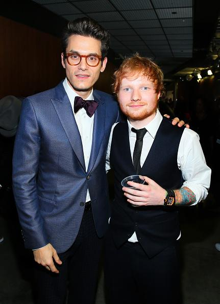 Post 2015 Grammy's wearing his Richard Mille RM030 limited edition. Pictured with John Mayer who was wearing a steel Patek Philippe perpetual calendar split-second chronograph Ref.5004A.