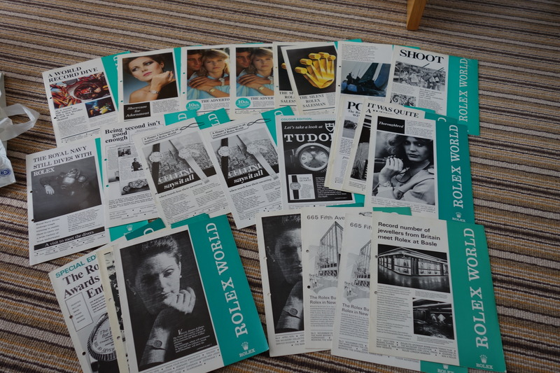 Copies of the 1974 Rolex World magazine posted on Vintage Rolex Forum, note the one that reads 'The Royal Navy Still Dives With Rolex'.