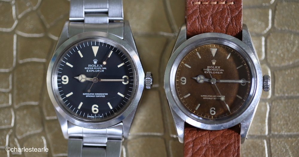 It's amazing what. little sunlight can do. Two Rolex Explorer Ref.1016