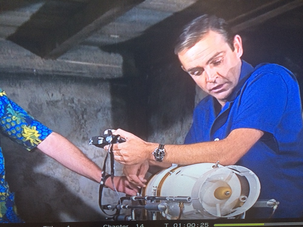 Sean Connery as James Bond in the 1964 movie 'Thunderball' wearing a Rolex Submariner Ref.6538