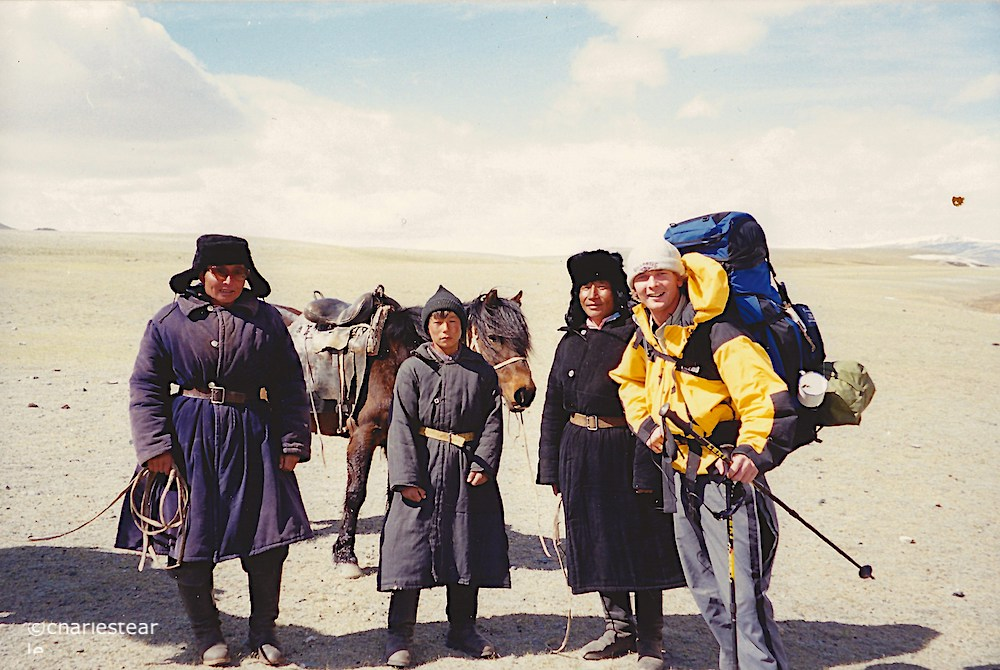 Jon with a few locals in rural Mongolia