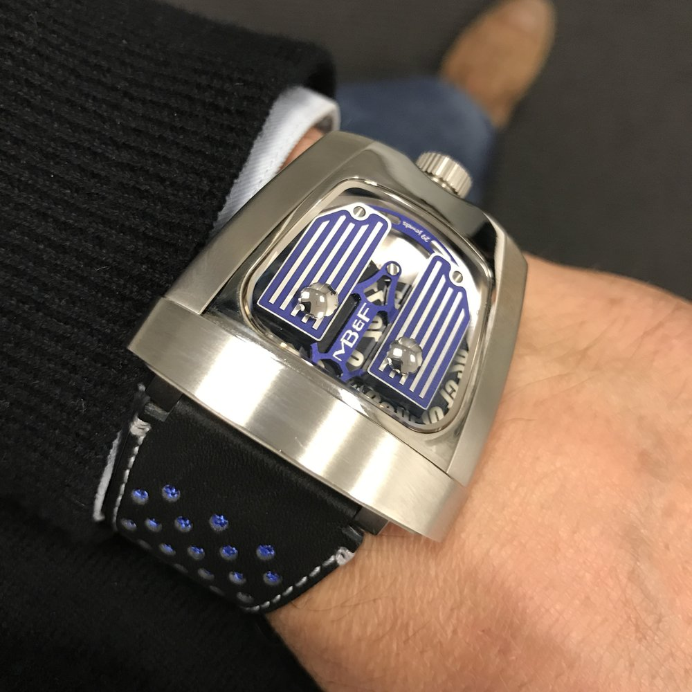 MB&F HMX 10 year anniversary model. instead of making a watches for the select few, he released one a cost for the masses.