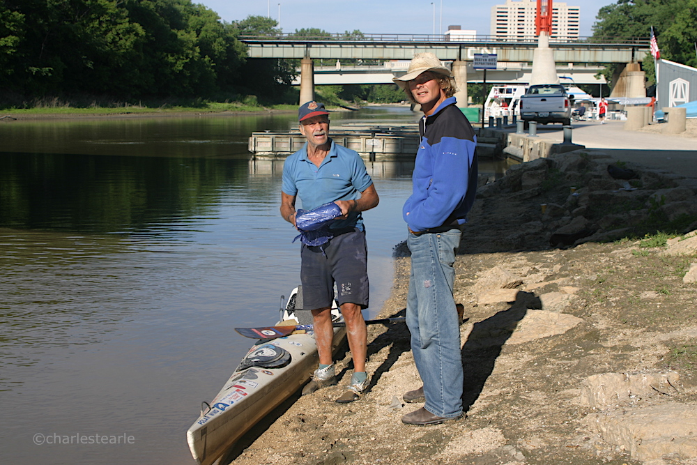 Upon arriving in Winnipeg we managed to contact and meet the man that inspired our journey, Don Starkell (left, Jon, in staple cowboy hat, right) , author of 'Paddle to the Amazon' and 'Paddle to the Arctic'. The kayak he used that day was the same one he used on his failed attempt to kayak the Northwest Passage that cost him several fingers to frostbite. Sadly, Don passed away in 2012, although his inspiration to others and spirit of adventure will live on forever.