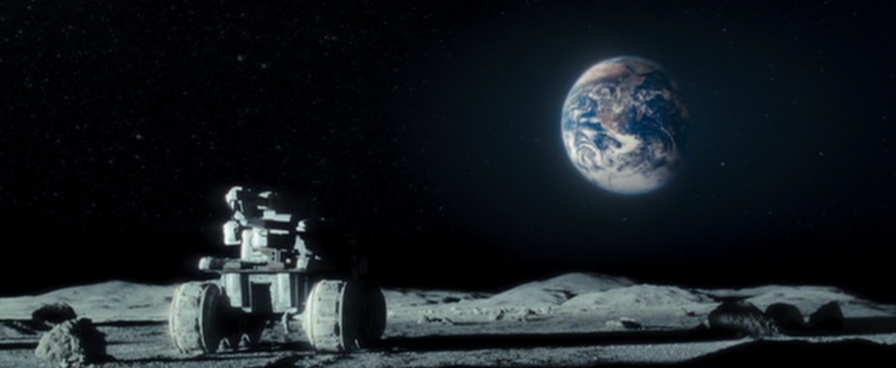 """When the Earth hits your eye like a big pizza pie, that's amore!"" - The Lunar Rover"