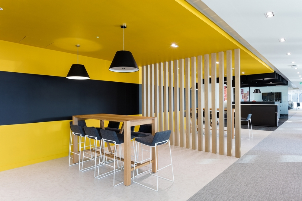 What makes an effective staff break out area interior for Well designed office spaces
