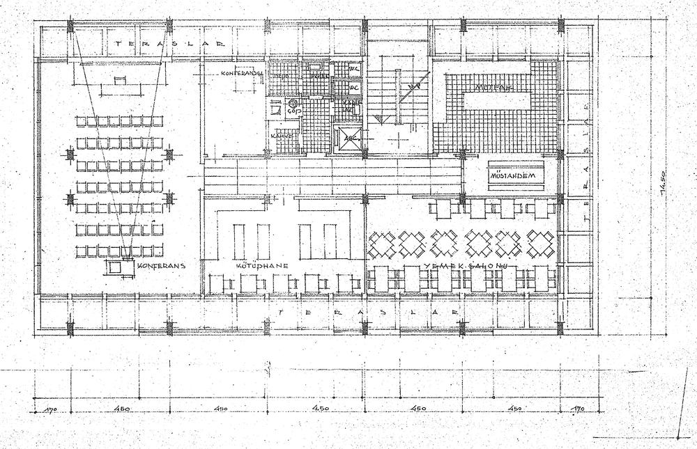 Şekil 7: EİE Teras Kat Planı [Kaynak: Büyükşehir Belediyesi İmar Daire Başkanlığı, 2008]