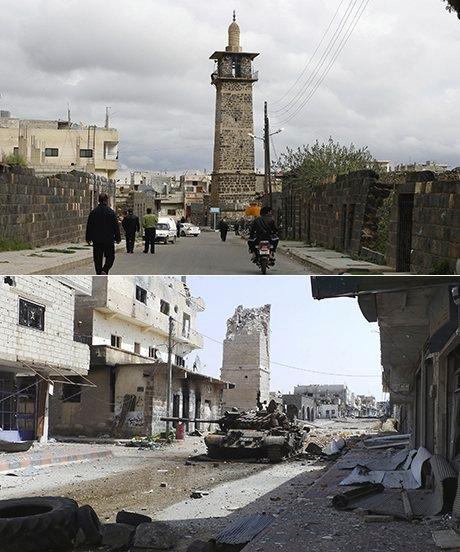 Şam yakınlarındaki Dera kentinde Hazreti Ömer Camisi, 2011 ve 2013…
