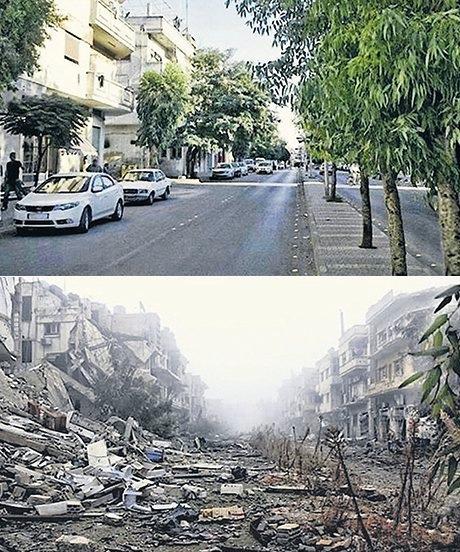 Humus'ta bir cadde, 2011 ve 2013…