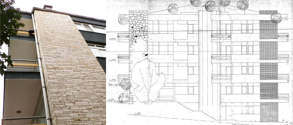 Resim 3: Yan cephedeki taş-kaplı şömine duvar