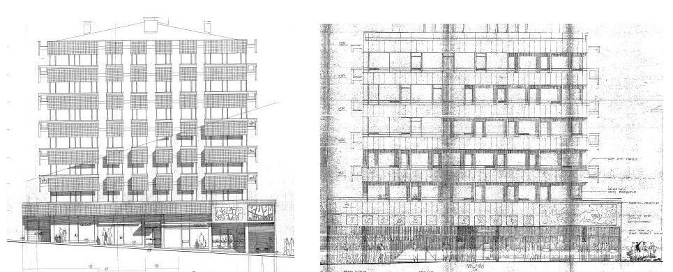 Resim 5:  Solda  Talip Apartmanı/Talip Sineması, sağda Başkent Apartmanı/Kavaklıdere Sineması