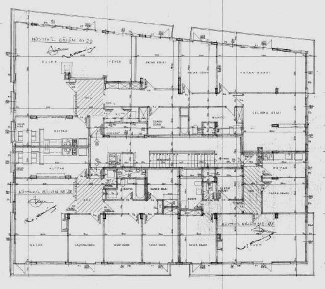 Resim 9:  Talip Apartman  ı'nın kat planları