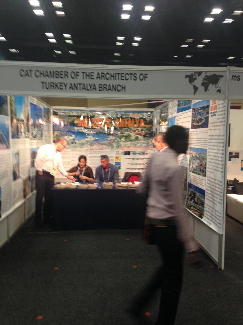 2023 UIA Dünya Mimarlık Kongresi aday adayı MO Antalya Şubesi standı