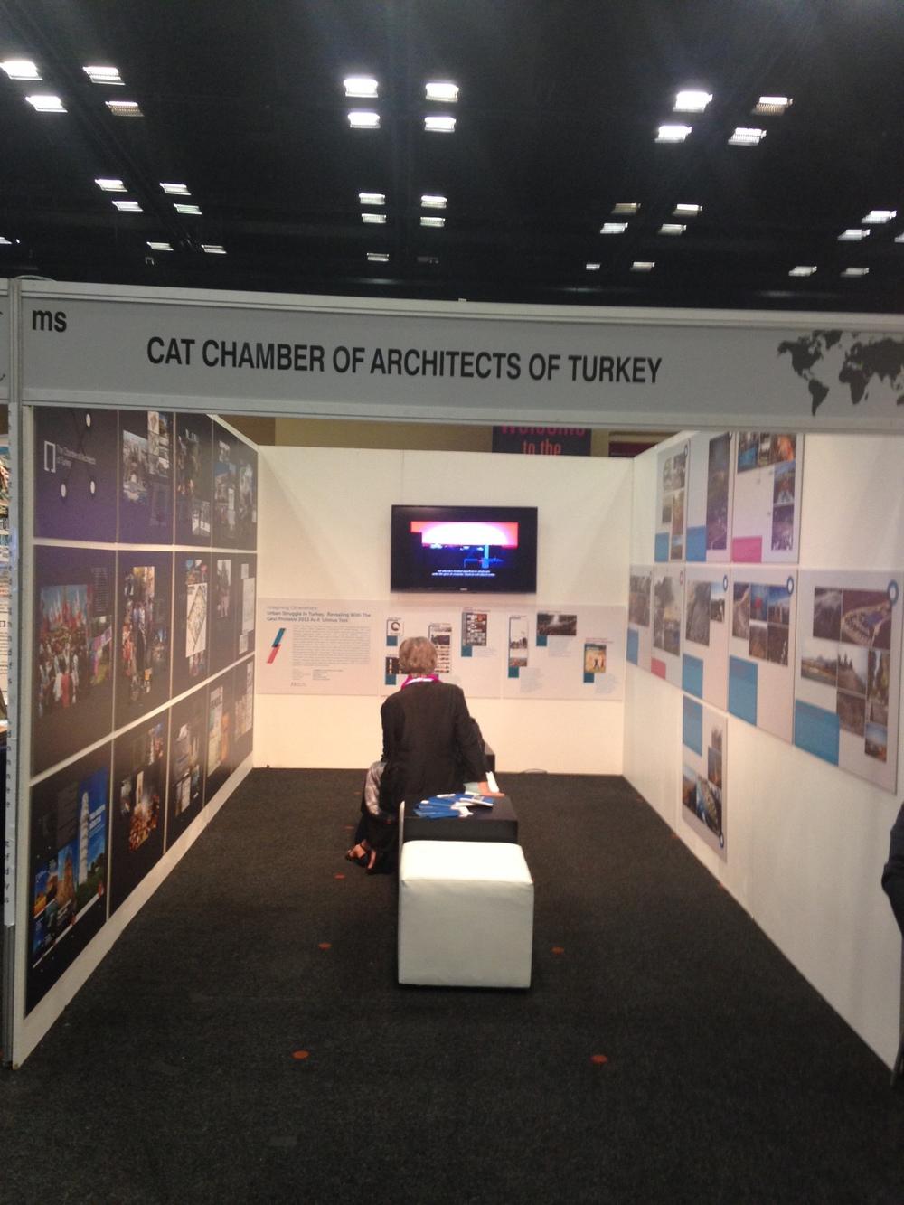 Eleştirel yaklaşımı ve toplumsal duyarlılığı ile öne çıkan 'Gezi' temalı Mimarlar Odası standı