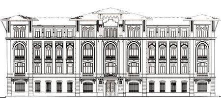 Vedat Tek, Defter-i Hakani (Tapu Kadastro Binası), İstanbul 1908