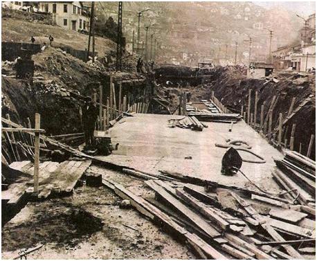 1962 Bentderesi'nin yer altına alınışı