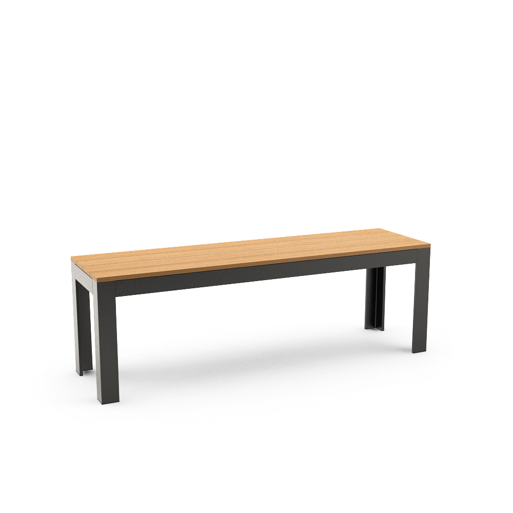IKEA FALSTER BENCH, BLACK, BROWN