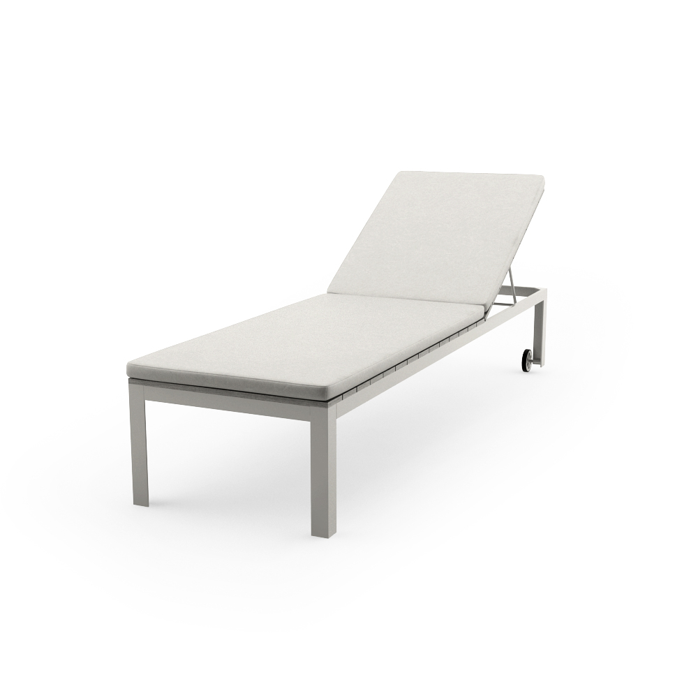 IKEA FALSTER CHAISE, GRAY WITH CUSHIONS POSE 1
