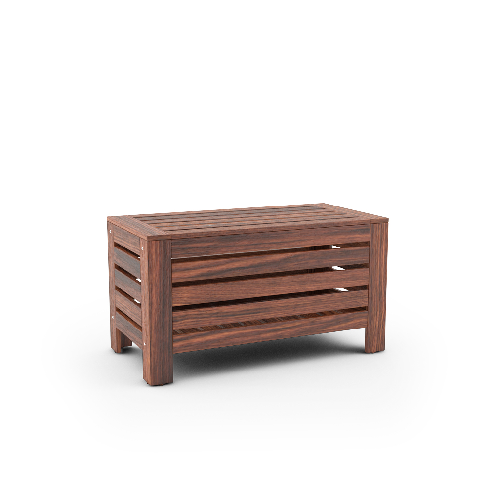 Free 3d models ikea applaro outdoor furniture series Storage bench ikea