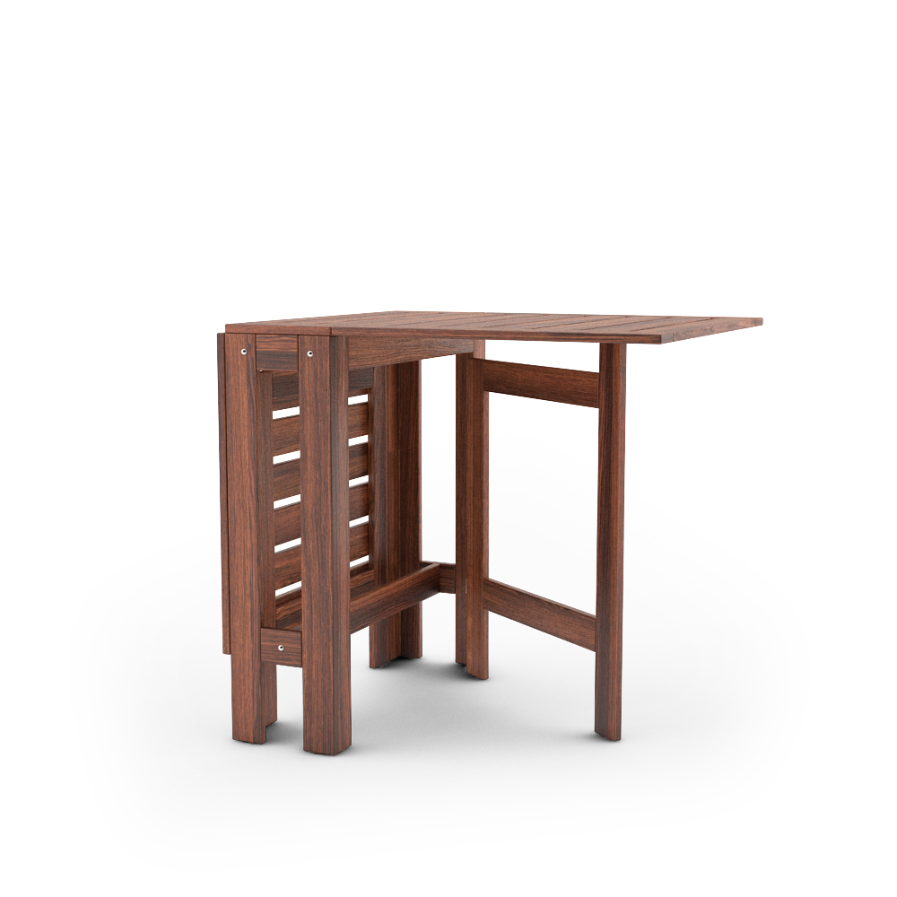 IKEA APPLARO GATELEG TABLE HALF UNFOLDED