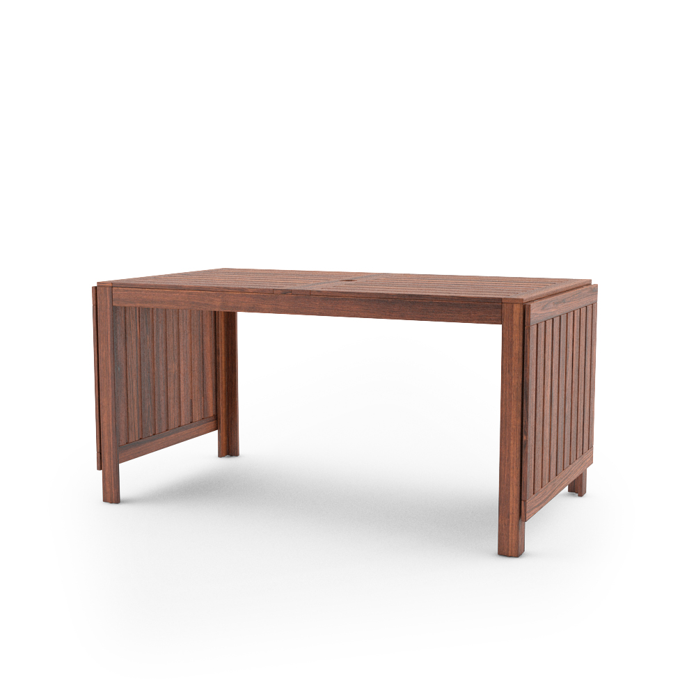 free 3d model of ikea applaro outdoor furnitures series gateleg table