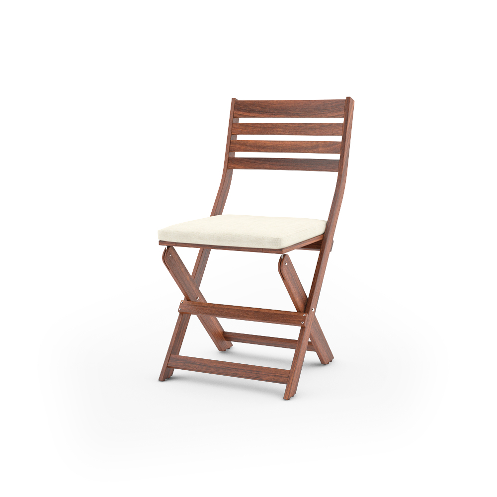 ikea applaro folding chair unfolded with cushion - Garden Furniture 3d