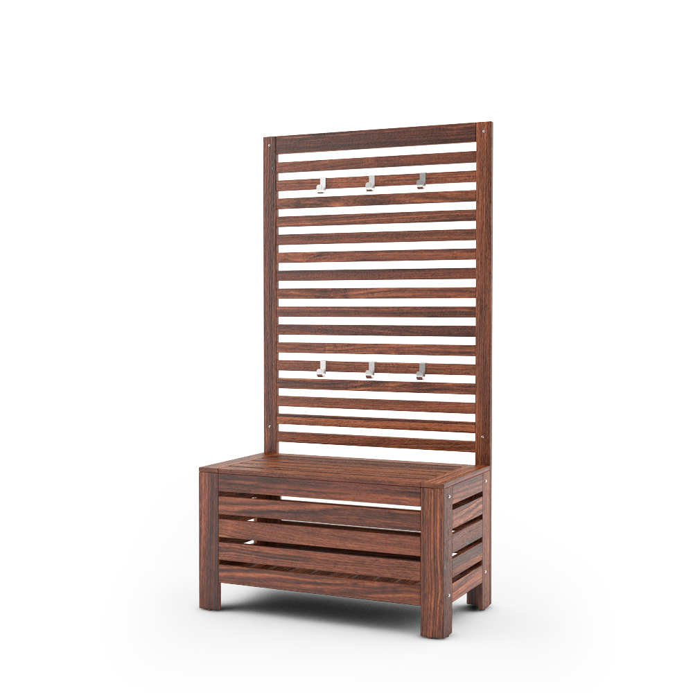 IKEA APPLARO WALL PANEL WITH BENCH