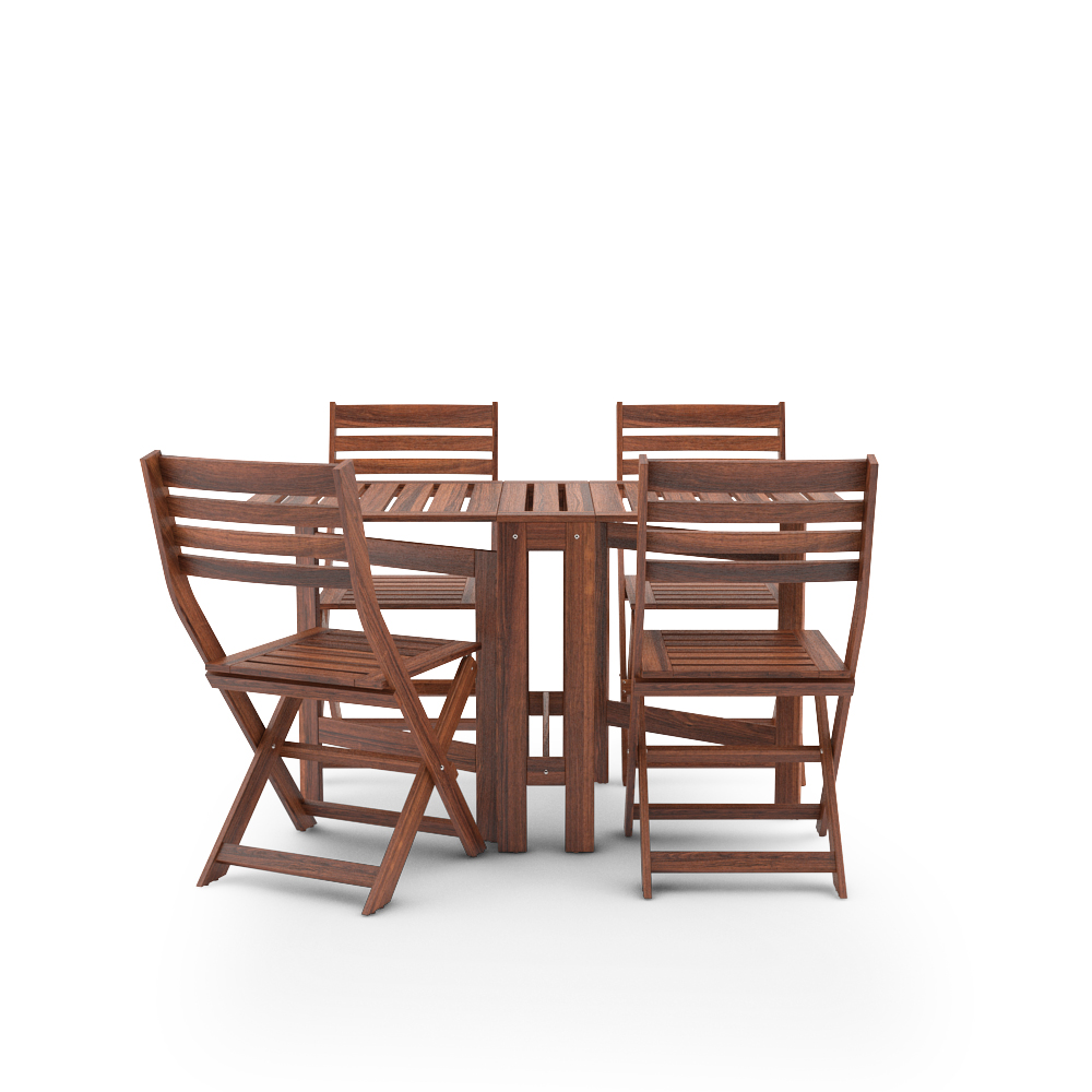 Free 3d models ikea applaro outdoor furniture series for Garden table and chairs