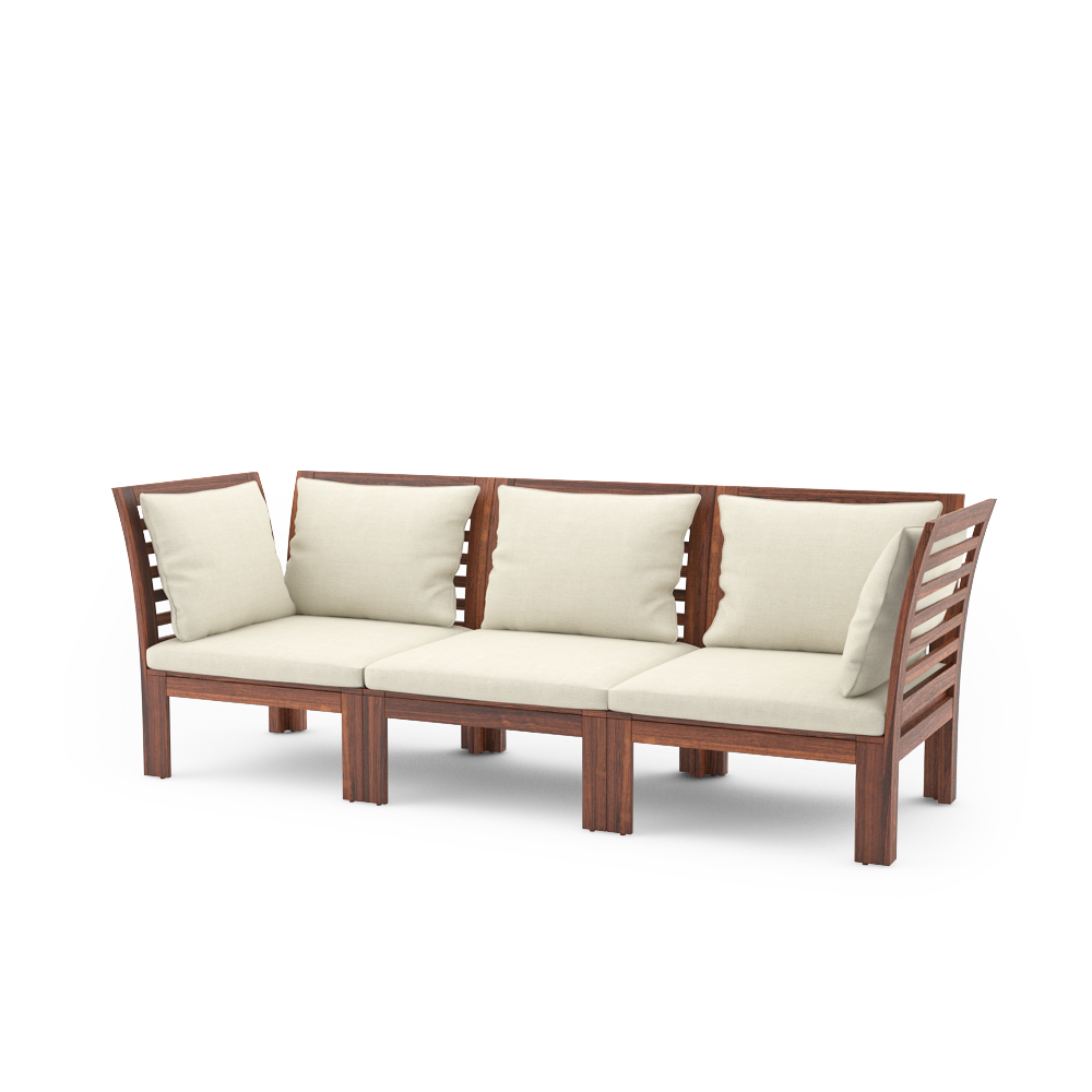 Free 3d models ikea applaro outdoor furniture series for Ikea sofa set
