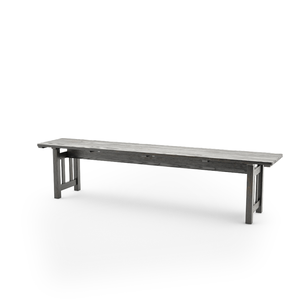 IKEA ANGSO BENCH, BLACK-BROWN