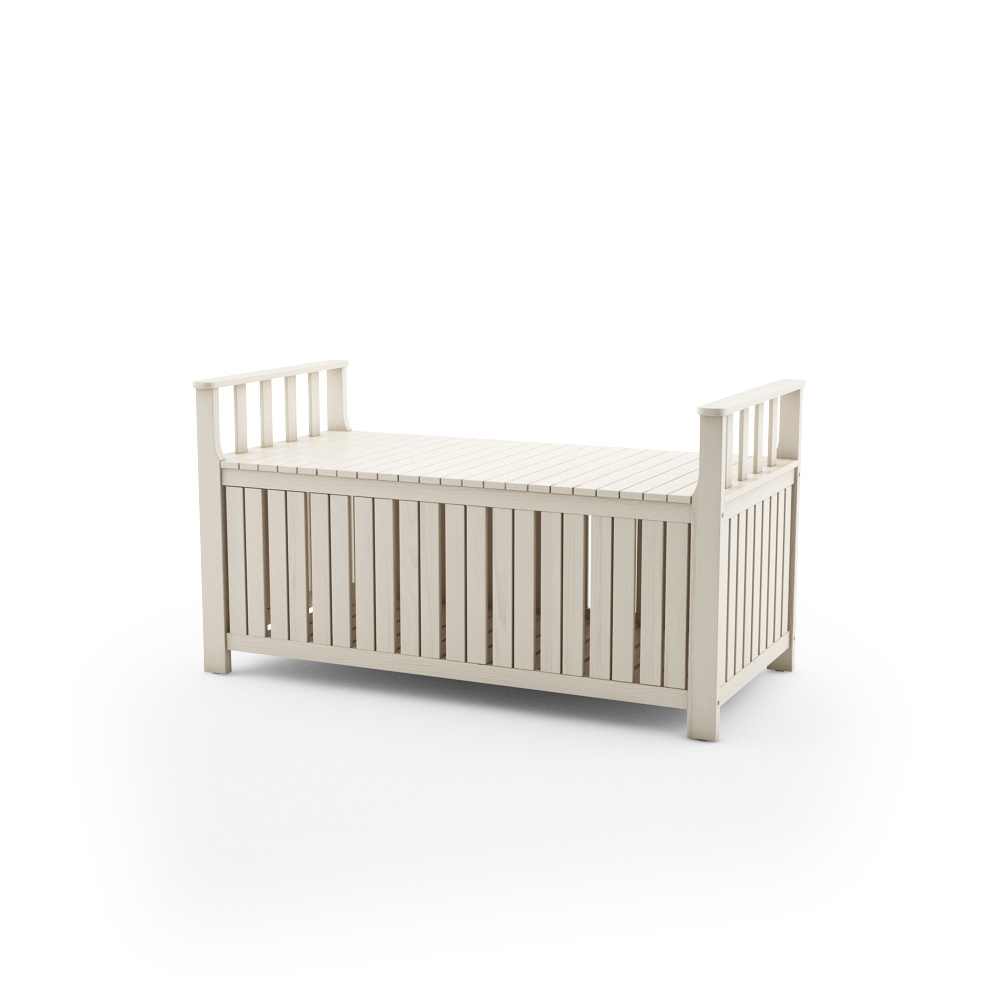 IKEA ANGSO STORAGE BENCH, WHITE