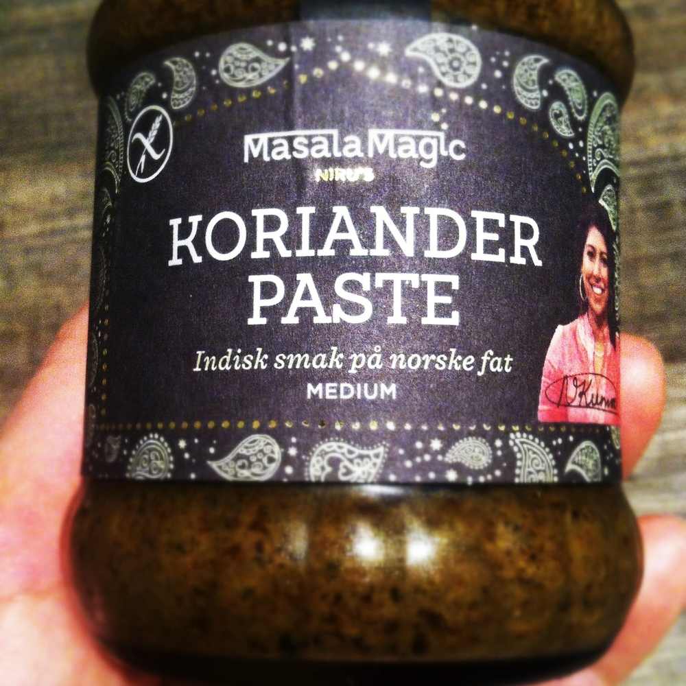 Koriander paste fra Masala Magic.