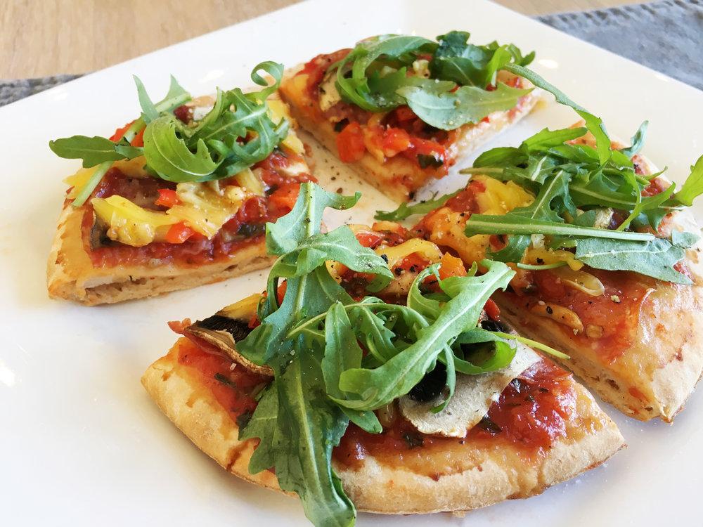 Superenkel og rask pizza som smaker kjempegodt!