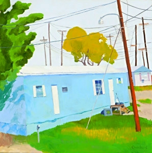 Lindy Chambers, My Place to live, 2012, 24 x 24, Oil on Board