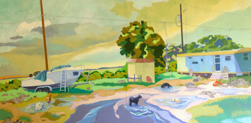 Bluewater Hwy 24 x 60 Oil on Board