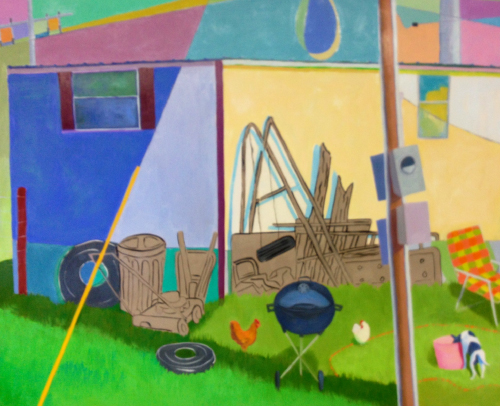 Yard Eggs II  24 x 30  Oil on Board