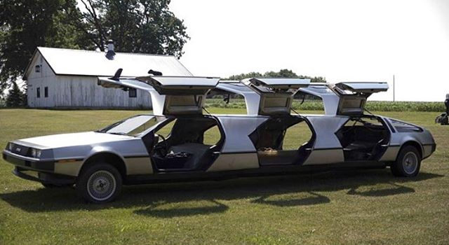This Delorean #Limo can take you and your friends to October 21, 2015. Oh, that's today? Where's my hover board?#backtothefuture #delorean #timemachine