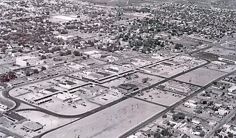 Downtown Las Cruces, NM in 1974 after urban renewal. Courtesy of Placemakers