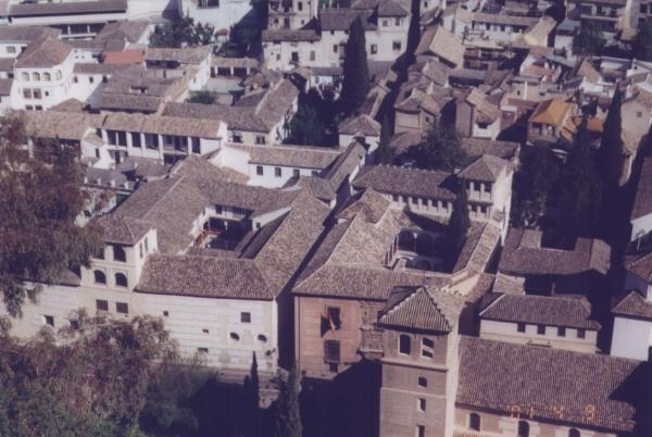 Mid-rise courtyard buildings in Granada, Spain