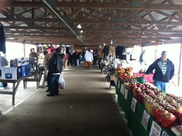 One of the quieter aisles at Keller's Flea Market in Savannah, GA