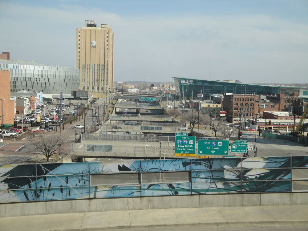 Freeway infrastructure in downtown Kansas City