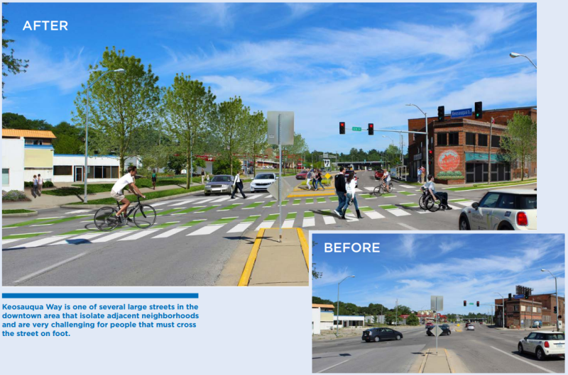 Via Streetsblog - Des Moines' ambitious Connect Downtown street makeover