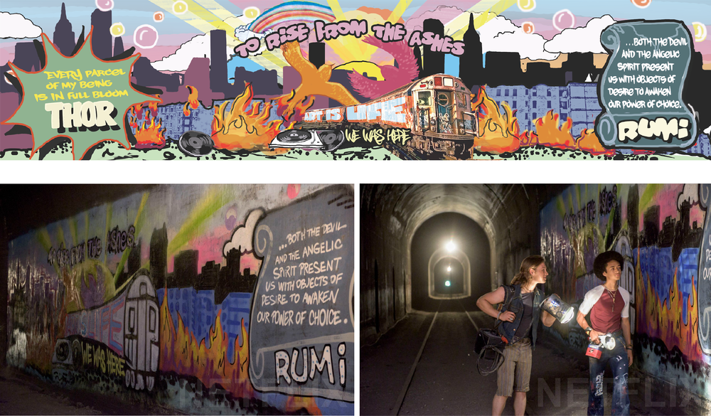 Subway Tunnel Mural Concept