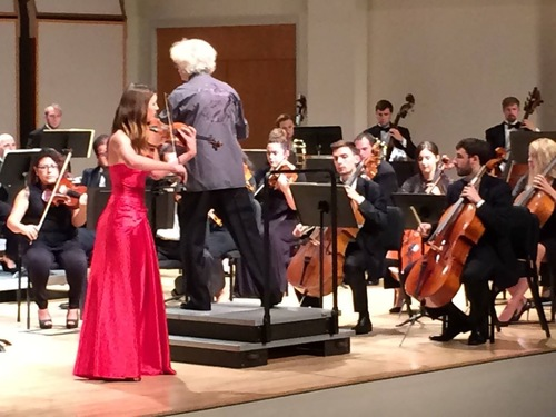 MSMF Concerto Competition Winner Shannon Fitzhenry playing the Sibelius Violin Concerto.