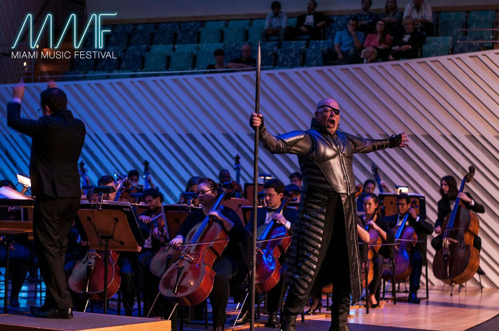 Alan Held joins the Wagner Institute participants as Wotan in concert at the New World Center with the MMF Symphony Orchestra.