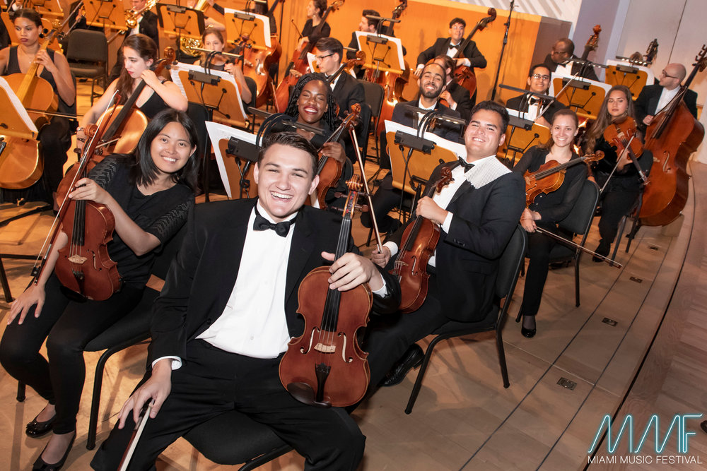 The MMF Symphony Orchestra at the New World Center