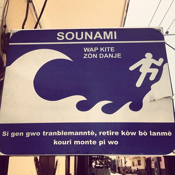 Sounami!? Jete w! #tsunami #earthquake #haiti #haititourism #okap #protectioncivile  (at rue 21 G)