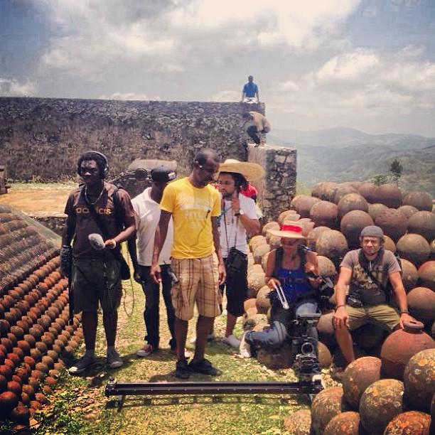 The crew #graphcity #ayitise  #lacitadellelaferriere #filming #canon #kessler #cineslider #haiti